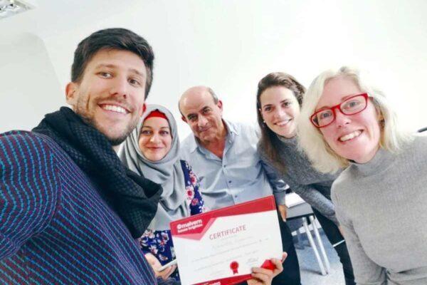 International students study English in Brighton